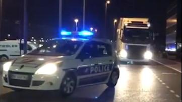 Police escort essential medical supplies