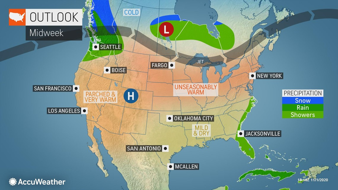 Weather Map Northwest Us Milder weather, warmer temperatures forecast for much of the US