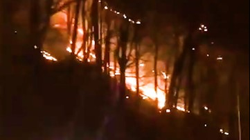 Forest fire roars through Delaware Water Gap