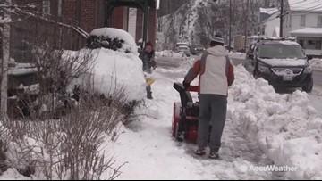 Cleanup begins after winter storm dumps substantial snow