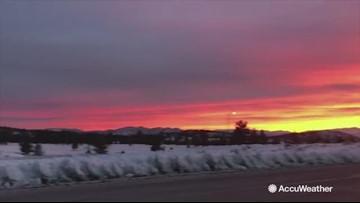 Beautiful sunrise fills sky after damaging California storm