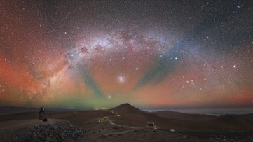Striking 'Airglow' Turns One of Earth's Darkest Night Skies Technicolor