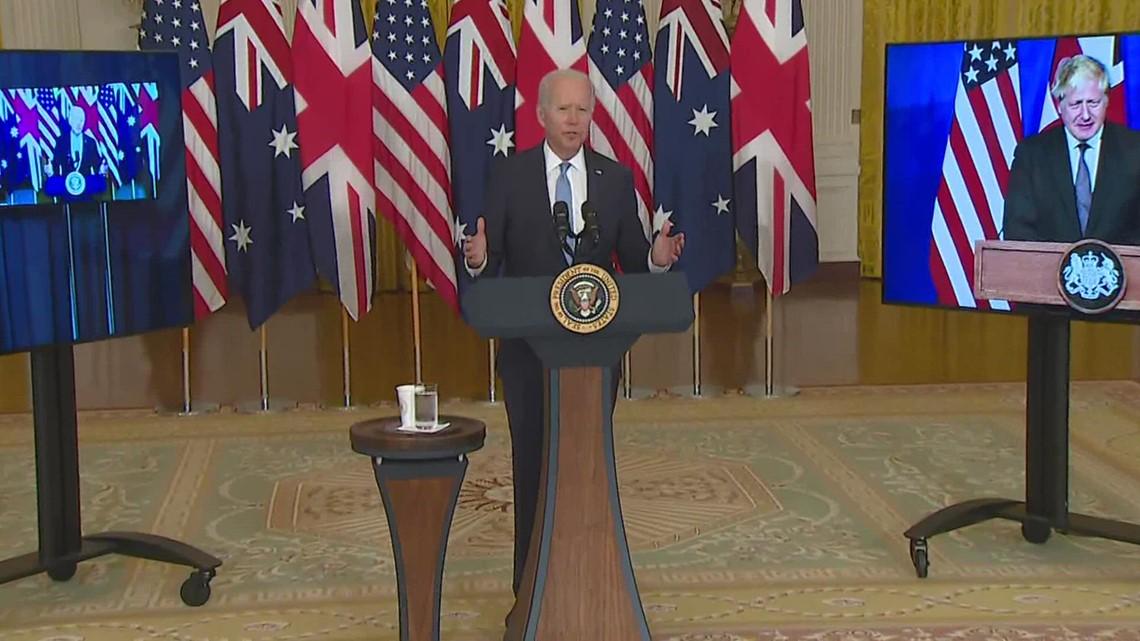 Biden and UK, Australia leaders announce new security partnership