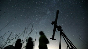 Dueling meteor showers to light up sky Monday night