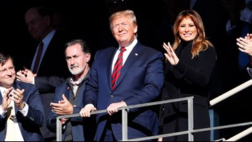 Trump in Tuscaloosa: Crowd cheers for the president at Alabama-LSU game