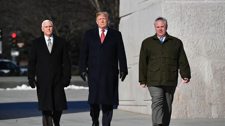 Trump, Pence and Bernhardt