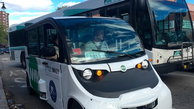Autonomous Shuttle pulled over by Police