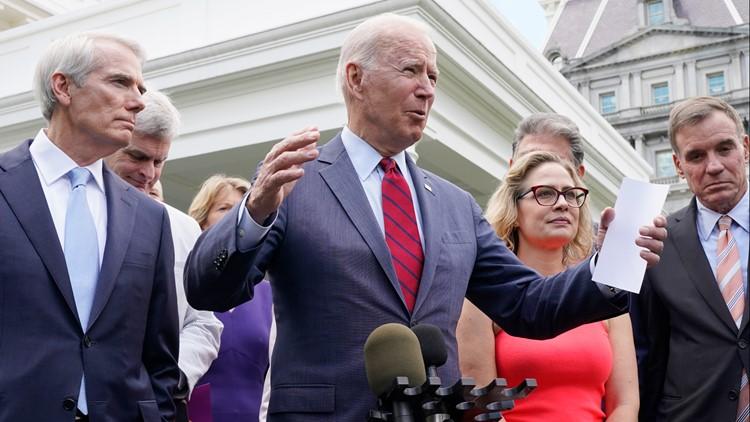 'We have a deal': Biden, bipartisan senators on infrastructure