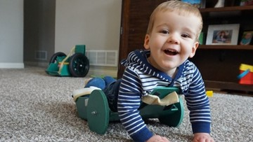 Parents turn mobility invention for son with disability into gift for others