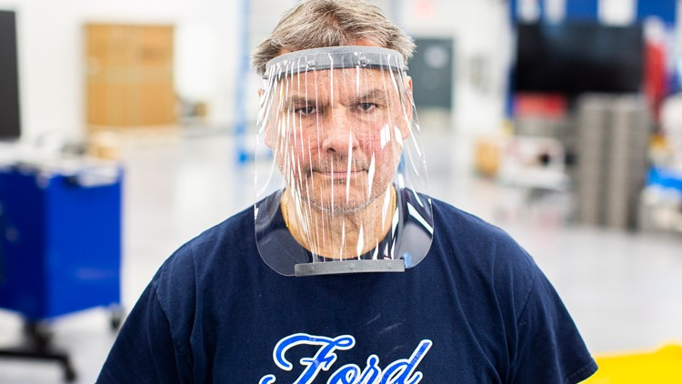 Ford COVID-19 Medical Equipment Production face shield