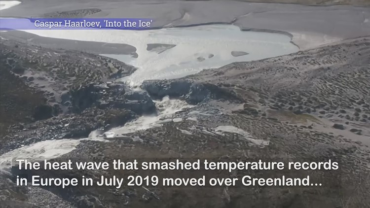 Accelerated ice melt as heat wave hits Greenland