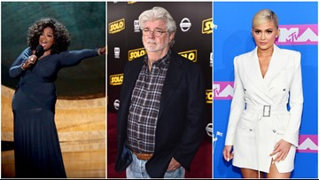 Forbes names 2018's richest celebrities: George Lucas, Oprah, Kylie Jenner make list