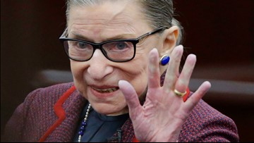 Justice Ruth Bader Ginsburg back to work at Supreme Court