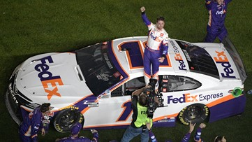 Denny Hamlin wins Daytona 500 again, Ryan Newman goes airborne on last lap