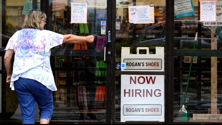 US jobless claims drop by 14,000 to 385,000