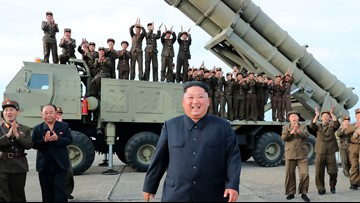 N. Korea tests new 'super-large' multiple rocket launcher