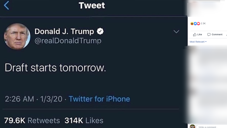FAKE TRUMP TWEET ABOUT DRAFT