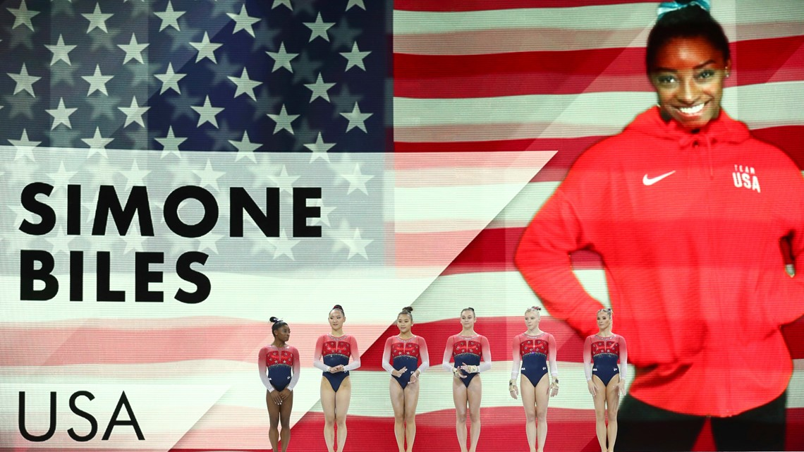 Simone Biles sets new record as USA wins team gold at world championships