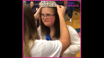 Teen with Down syndrome crowned homecoming queen by unanimous vote