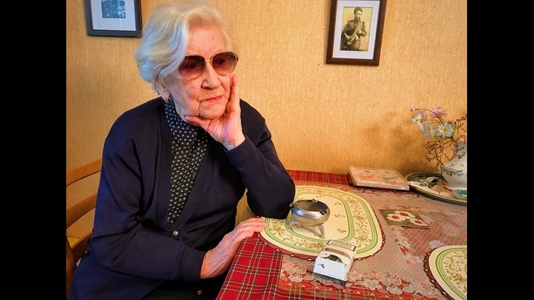 A survivor of Josef Stalin's Soviet-era Gulag labor camps Lyudmila Alekseevna Khachatryan in her apartment in Moscow on Nov. 21.