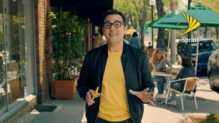 Sprint has been using former Verizon pitchman Paul Marcarelli in its ads.