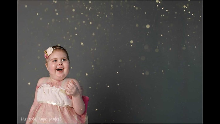 Ava Dawson's photos before her death of a brain tumor included her favorite things: singing, a pink dress and glitter - a lot of glitter.