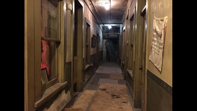 Different levels of the Dumas Brothel catered to different classes of customers, with the most grim conditions in the basement level, which connected with Butte's underground system.