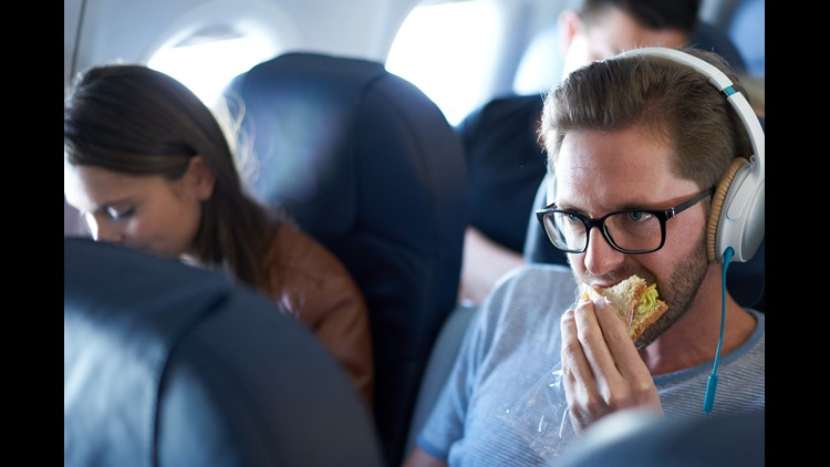 By all means, pack a sandwich for the flight. But if it smells like it's been in your fridge for three weeks, even though it's fresh, eat it before you get on board. Please.