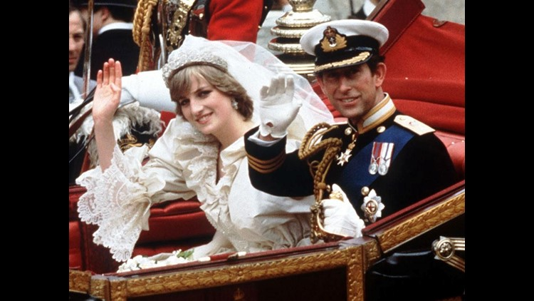 Prince Charles and Princess Diana in their carriage on their wedding day in London, July 29, 1981.