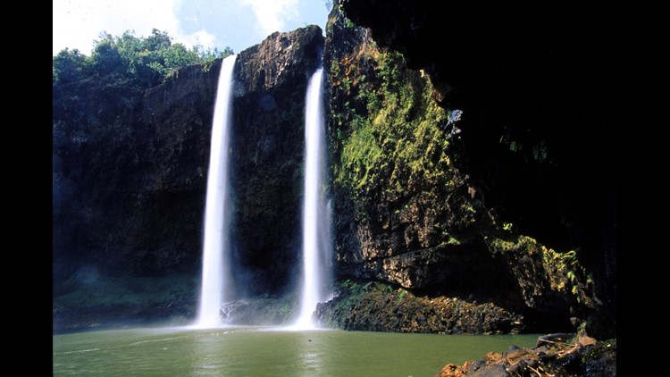 A view of Wailua Falls in Kauai.