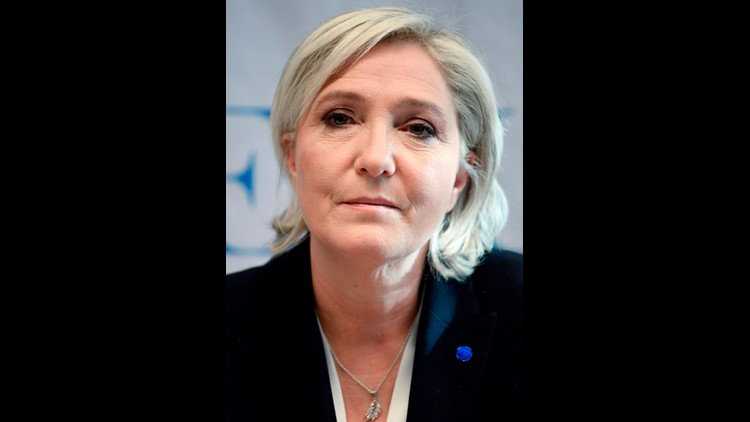 In this file photo taken on January 21, 2017 French National Front (FN) leader Marine Le Pen gives a press conference during the European Parliament's Europe of Nations and Freedom (ENF) congress in Koblenz, western Germany. A top EU court on June 19, 20