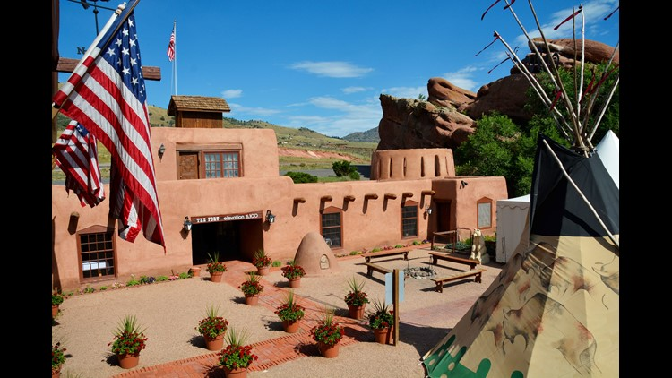 The Fort restaurant is a historically and architecturally accurate adobe replica of Bent's Fort, a Colorado fur trading station built in 1833. It sits very close to the famed Red Rocks concert amphitheater just outside Denver.