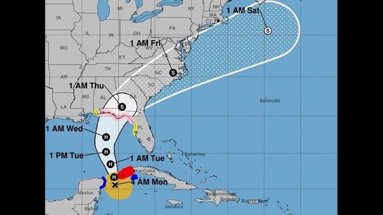 tropical storm michael  first airline waiver is out