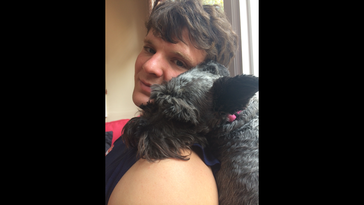 Otto Warmbier with Sassy, a friend's dog