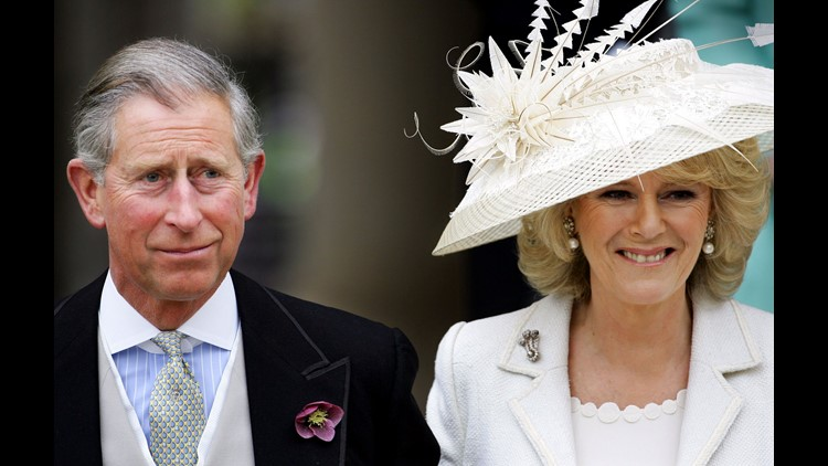 Prince Charles and Camilla Duchess of Cornwall after their wedding on April 9, 2005.