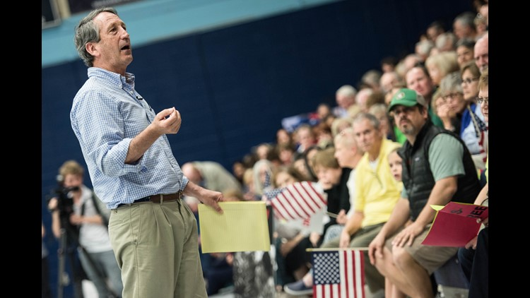 Rep. Mark Sanford R-S.C. addresses the crowd during a town hall meeting