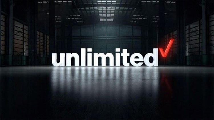 Verizon's unlimited plan logo.