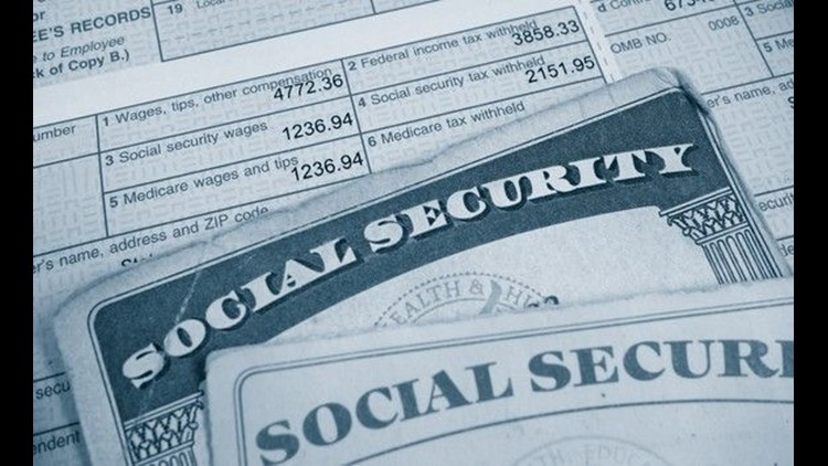Social Security cards on a W-2 form
