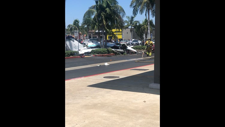 5 dead after plane crashes into California mall parking lot