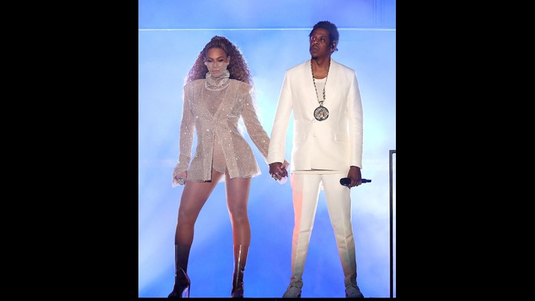 CARDIFF, UK - JUNE 6: Beyonce and Jay-Z perform on the opening night of the 'On The Run II' tour at Principality Stadium on June 6, 2018 in Cardiff, Wales, UK. (Photo by Raven Varona/Parkwood/PictureGroup)