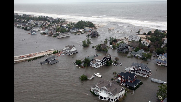 Hurricane Sandy flooded the New Jersey shoreline in 2012.