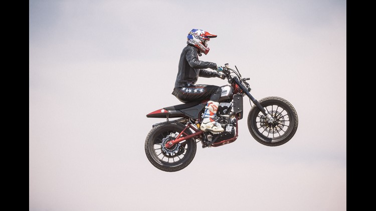 Travis Pastrana will attempt the stunts while riding a modern-day recreation inspired by the motorcycle Knievel used.