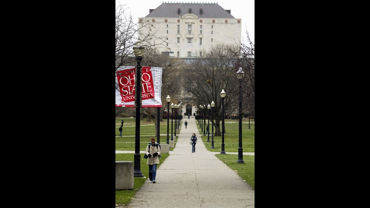 A file photo shows the Ohio State University campus in Columbus, Ohio, in 2003.