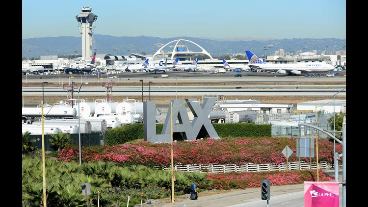 This file photo from Nov. 1, 2013 shows, shows Los Angeles International Airport.