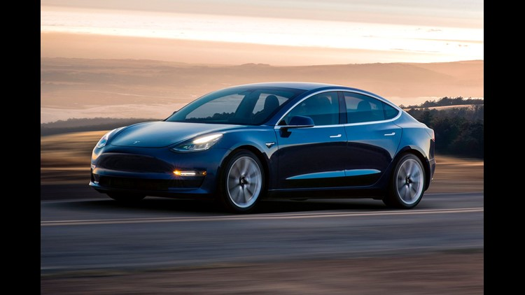 This photo provided by Tesla shows a 2017 Tesla Model 3, a vehicle that has a semiautonomous driving system called Autopilot. Tesla can update the Autopilot software over the air, not necessitating a trip to a service center. Tesla offers Autopilot on its
