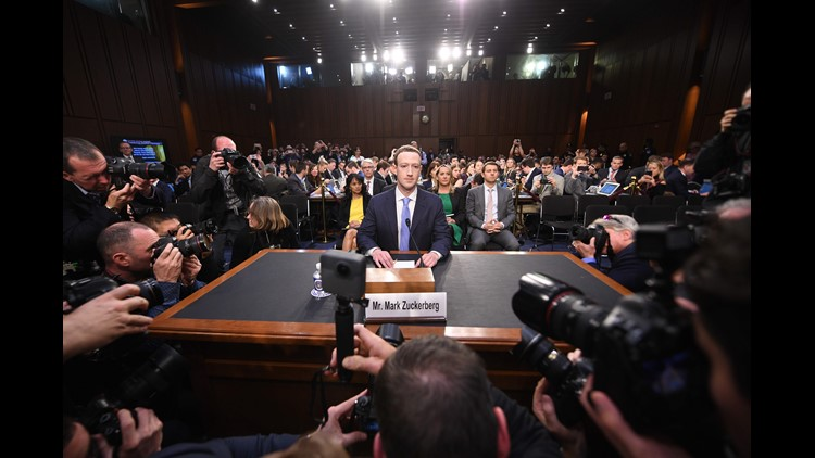 Facebook CEO Mark Zuckerberg arrives to testify before a joint hearing of the US Senate Commerce, Science and Transportation Committee and Senate Judiciary Committee on Capitol Hill, April 10, 2018 in Washington, DC.