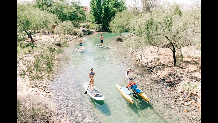 Sheraton Grand at Wild Horse Pass Resort offers stand up paddleboarding.