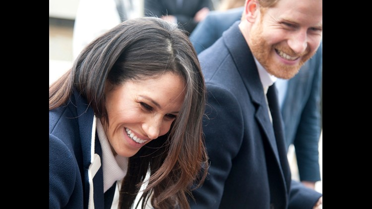 Prince Harry and his fiancee Meghan Markle in Birmingham, England, on March 8, 2018.