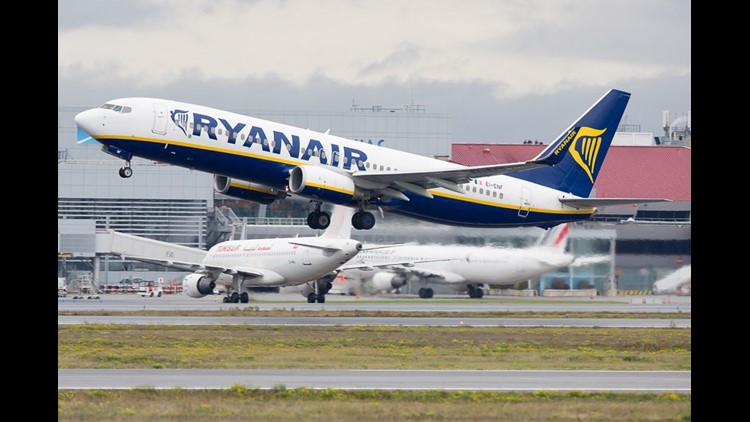 A Ryanair Boeing 737-800 departs Toulouse-Blagnac International Airport in France in November 2016.