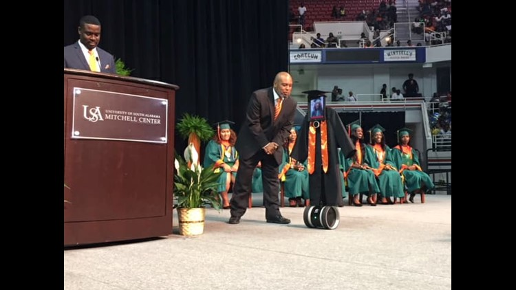 Mobile County Public Schools partnered with the USA Children's and Women's Hospital so Cynthia Pettway could attend her graduation, without ever leaving the hospital.